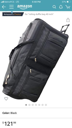 42-inch Rolling Duffle Bag with Wheels | Luggage Bag | Hockey Bag | XL Duffle Bag With Rollers | Heavy Duty Oversized 1200D Polyester for Sale in Norwalk, CA