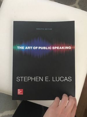 The art of public speaking, by Stephen E. Lucas. 12th edition. for Sale in West Palm Beach, FL