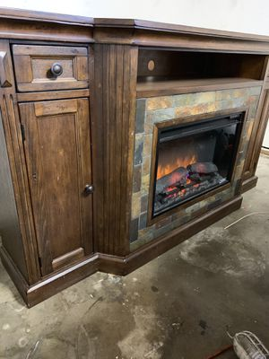Tv stand with fireplace for Sale in Denver, CO