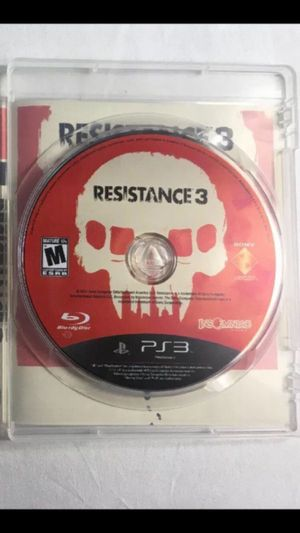 Resistance 3 PS3 Game for Sale in New York, NY