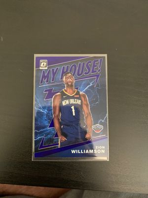 ZION WILLIAMSON MY HOUSE PURPLE RARE ROOKIE CARD for Sale in Glendale, CA