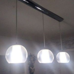"""37"""" Chrome 3-Penant Glass Chandelier for Sale in Humble, TX"""