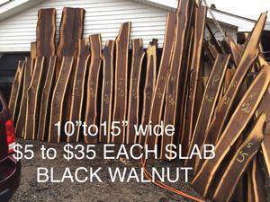 Black walnut live edge slabs for Sale in Elmira, NY