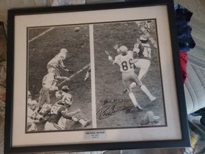 Signed Roger Staubach Drew Pearson hail Mary pass for Sale in Gladewater, TX