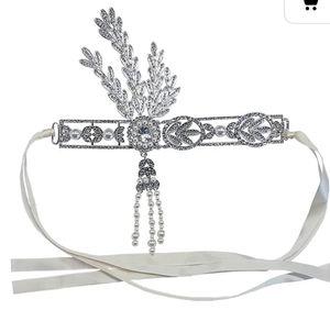Roaring 20s white/silver headband for Sale in Tampa, FL