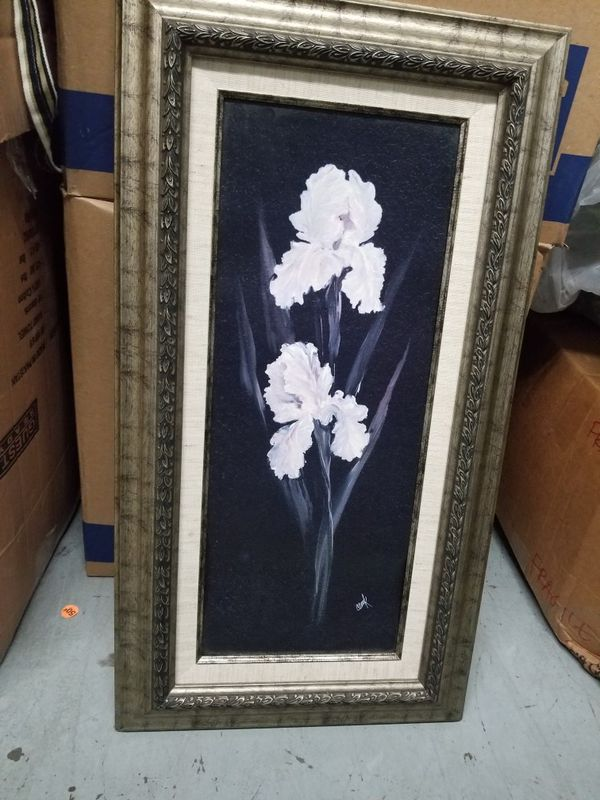 Hanging floral painting