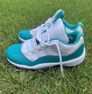 Nike Air Jordan Retro XI 11 Low Aqua Safari Sneakers Shoes Size Youth 5.5 Women's 7 for Sale in Laurel, MD