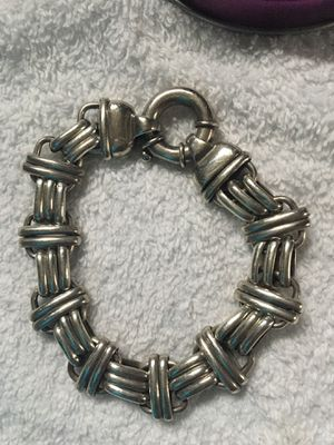 Genuine .925 Silver Bracelet 7inches for Sale in East Hartford, CT