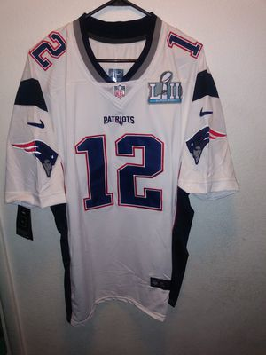 PATRIOTS SUPERBOWL PATCH STITCHED BRADY JERSEY for Sale in Garden Grove, CA