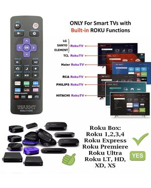 Universal IR Remote control for All Roku TV and ROKU BOX 1/2/3/4/ EXPRESS/ PREMIERE/ ULTRA/ LT for Sale in Rosemead, CA