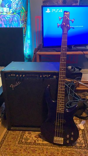 Fender bass amp and Ibanez bass for Sale in Penn Valley, PA