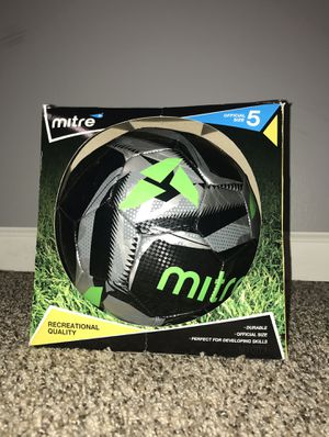 Mitre Size 5 Soccer Ball Recreational Quality Green Black Silver. for Sale in French Creek, WV