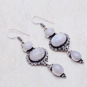 Moonstone 2.1 inch 925 earrings for Sale in San Antonio, TX