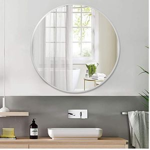 """Round Wall Mirror, 30"""" Large Circle Bathroom Mirror Modern Iron Art Framed Vanity Mirror Home Office Decorative Mirror - Silver for Sale in The Bronx, NY"""