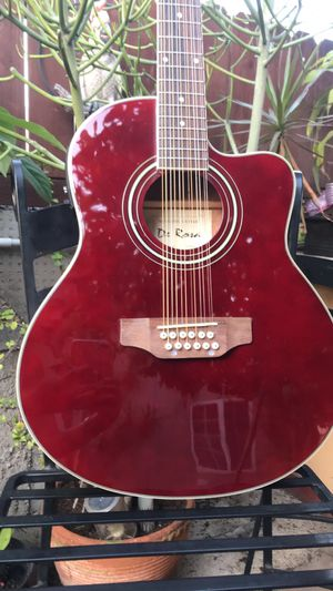 New 12 String Requinto Burgundy Cutaway Acoustic-Electric Thin Body Guitar for Sale in Compton, CA
