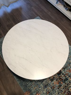 White faux marble coffee table for Sale in Arlington, VA