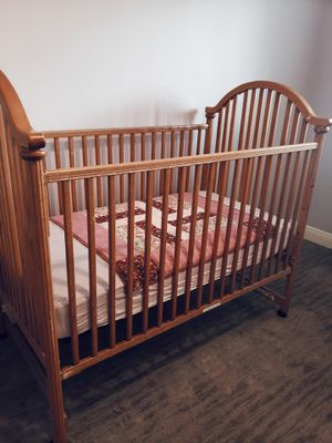 Beautiful light oak baby complete bedroom set for Sale in Phoenix, AZ