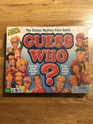 Guess Who Game, The Classic Mystery Face Game for Sale in Los Angeles, CA