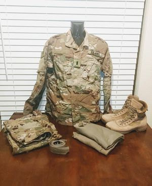 US Army OCP set pants jacket boots belt patches for Sale in Avondale, AZ