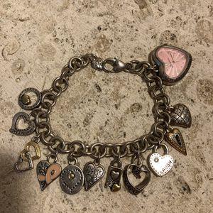 Brighton Charm Bracelet With Heart Watch- Top Quality Designer Piece - #ArtsSoFlo for Sale in Miami, FL