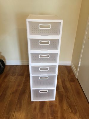 Sterilite white organizer stacking storage shelves: $35 for all for Sale in South Pasadena, CA