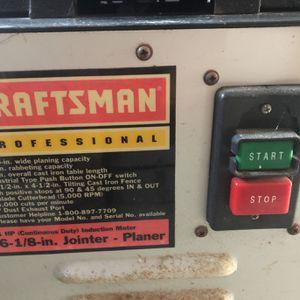 6 -1/8 Inch Jointer - Planer Craftsman Garlopa for Sale in Miami, FL