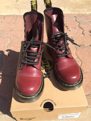 Dr martens cherry red 1460 boots for Sale in Fresno, CA