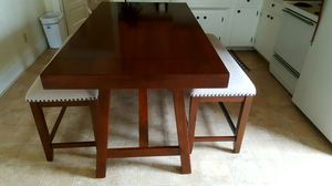 Solid wood kitchen table w/ 2 Benches for Sale in Swansboro, NC