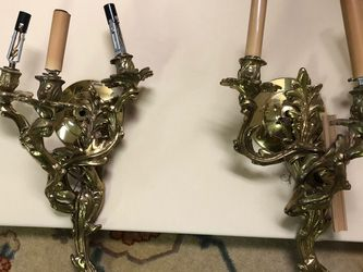 2 Large Brass Sconces for Sale in Brooklyn,  NY