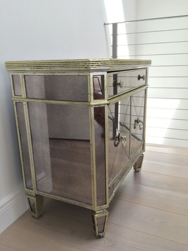 Z Gallerie Borghese Mirrored Nightstand/Side Chest ($190 ...