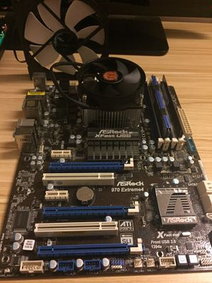 Gaming Pc Parts, RAM, CPU Cooler, AMD Processor, Case Fan, and a Motherboard for Sale in Fairfax, VA