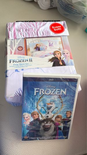 Frozen Twin Sheet Set & DVD movie for Sale in Dania Beach, FL