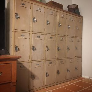 Vintage metal lockers perfect patina for Sale in Phoenix, AZ
