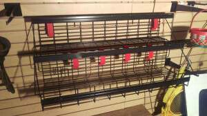 Metal Rack shelving shelves consecion stand gas station display racks for Sale in Clermont, FL