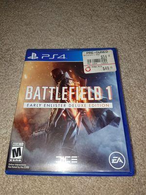 Battlefield 1 for ps4 for Sale in Wichita, KS