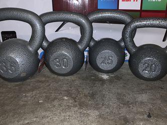 Kettlebells: 35, 30, 25 & 20 Lbs. for Sale in Dallas,  TX