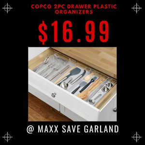Copco 2pc drawer plastic organizer for Sale in Garland, TX