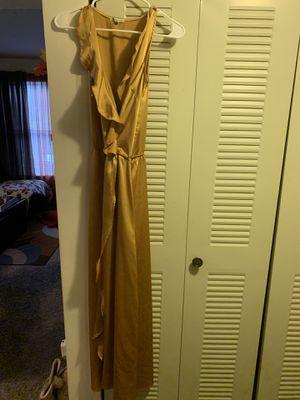 Mustard Yellow Satin Dress for Sale in South Brunswick Township, NJ