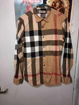 Used, Burberry Check Cotton Flannel for Sale for sale  Bronx, NY