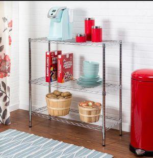 Honey Can Do Urban 3-Shelf Steel Storage Shelving Unit, Chrome for Sale in Van Alstyne, TX