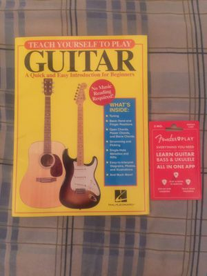 Learn how to play guitar book and fender play membership for Sale in The Bronx, NY