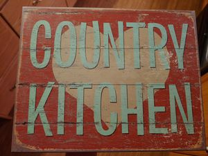 Wooden Country kitchen sign for Sale in Penhook, VA