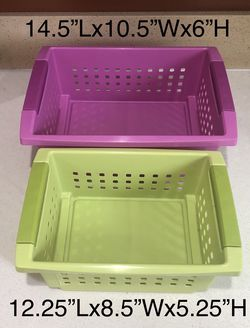 2pcs Heavy Duty Plastic Storage Basket Container for Sale in Los Angeles,  CA