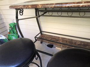 High kitchen/wine table with two stools for Sale in Everett, WA