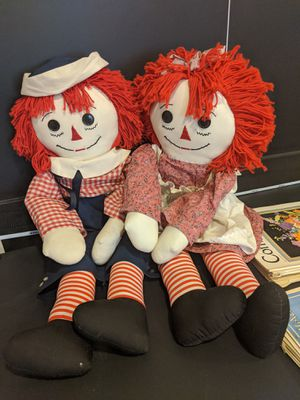 Hand made Raggedy Ann & Andy for Sale in Brighton, CO