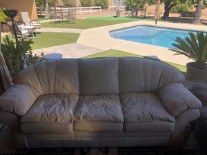 leather couch white for Sale in Scottsdale, AZ