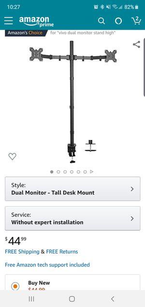 Vivo High Dual Monitor Desk Mount for Sale in Coconut Creek, FL
