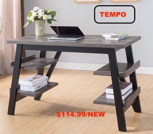Desk, Distressed Grey & Black for Sale in Huntington Beach, CA