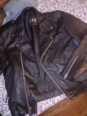 Brand new leather jacket! For man or woman for Sale in Jersey City, NJ