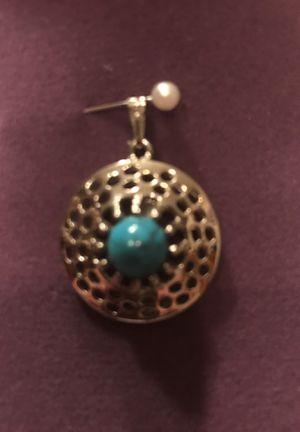 Pretty Silver Turquoise Pendant for Sale in Gainesville, VA
